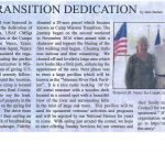 Mission Transition Dedication Article